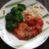 Schab w pomidorach