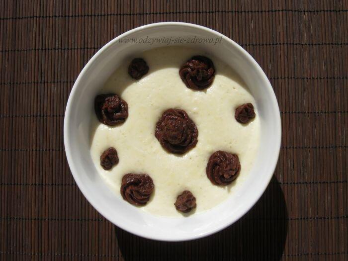 """Kokosowy krem jaglany z masą """"czekoladową"""""""