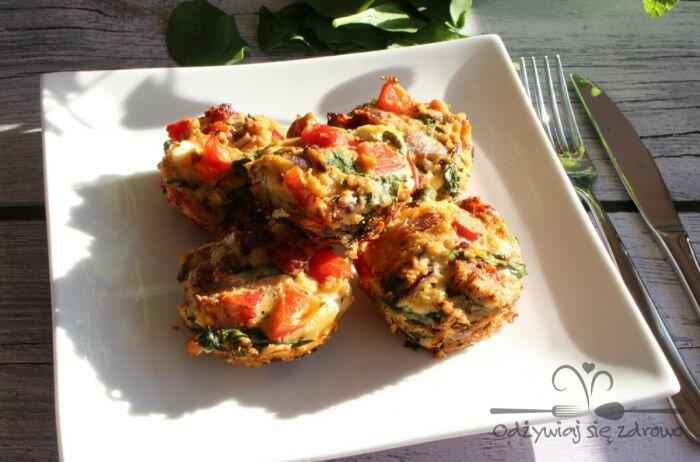 Muffiny jajeczne z warzywami