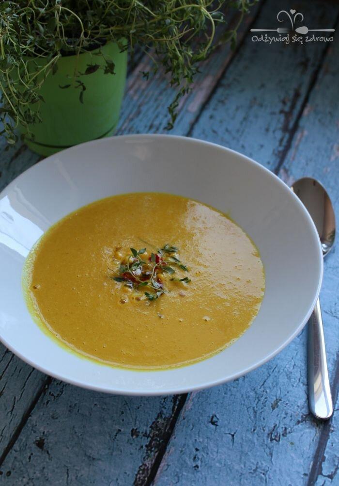 Pikantna zupa krem z kukurydzy