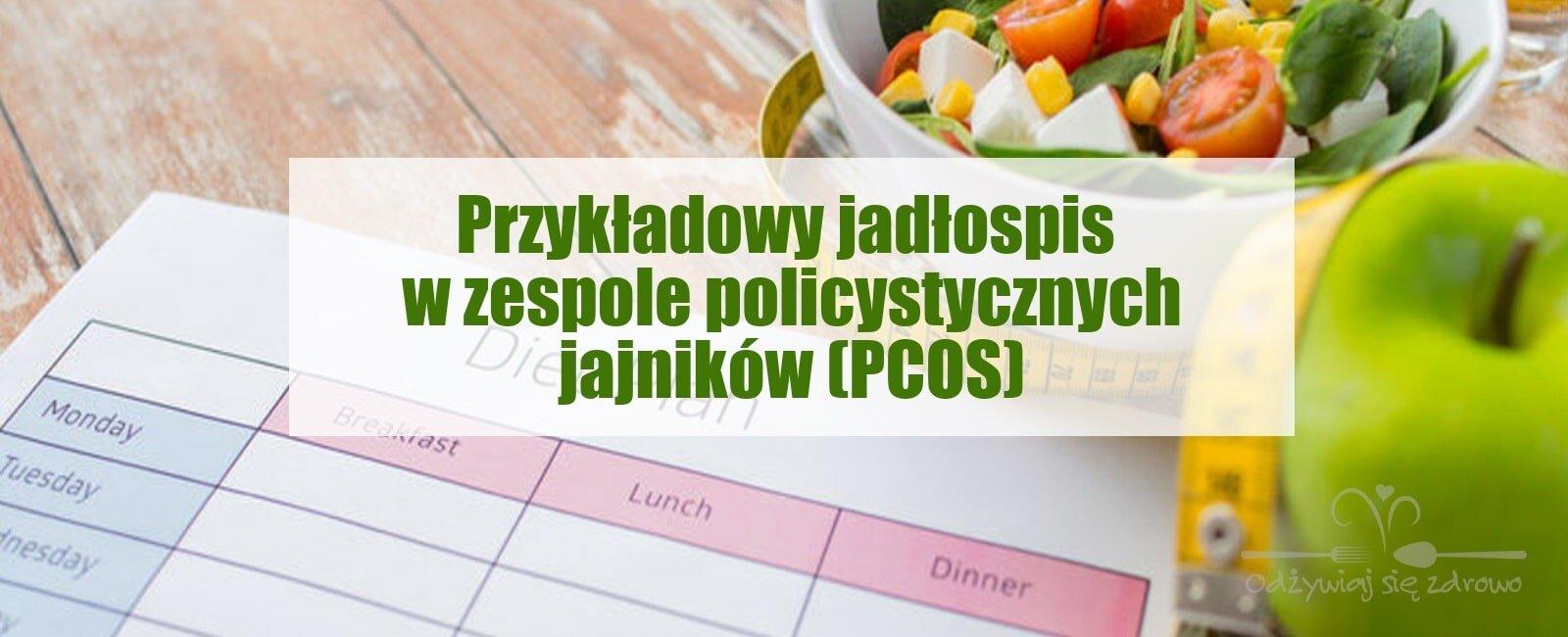 Dieta w zespole policystycznych jajników (PCOS) - przykładowy jadłospis - banner