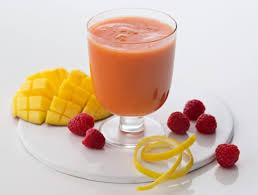 Koktajl malinowy z mango - dieta w zespole policystycznych jajników (PCOS) - przykładowy jadłospis - banner