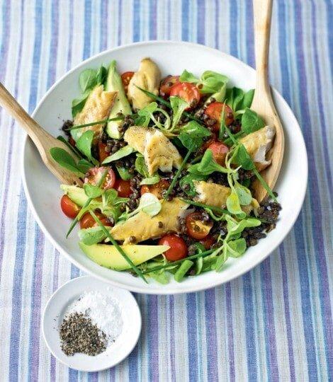 Ryba wędzona z warzywami - dieta w zespole policystycznych jajników (PCOS) - przykładowy jadłospis - banner