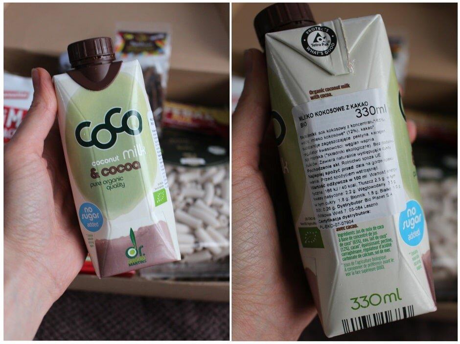 Mleczko kokosowe z kakao do picia Bio, firmy COCO Dr Martins