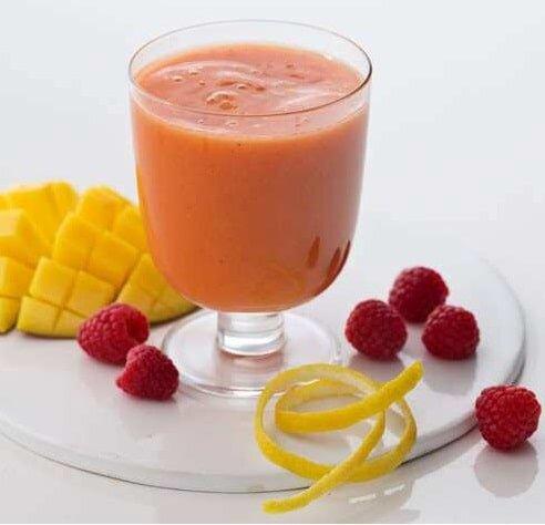 Koktajl malinowy z mango - dieta w insulinooporności (IO) - przykładowy jadłospis