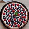 Krucha tarta z kremem mascarpone i owocami