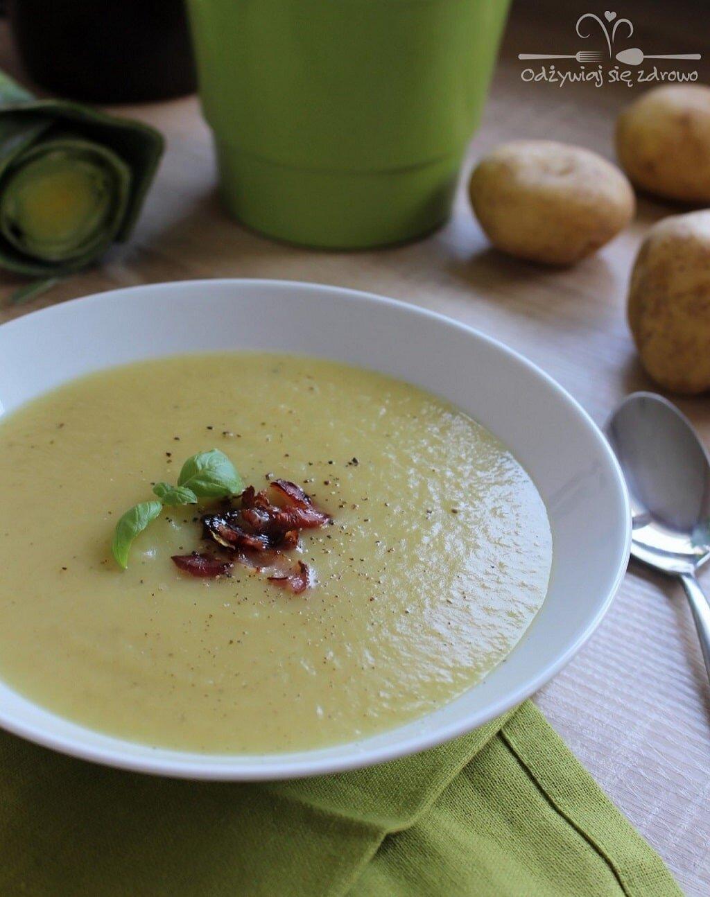 Zupa krem porowo-ziemniaczana foodbook
