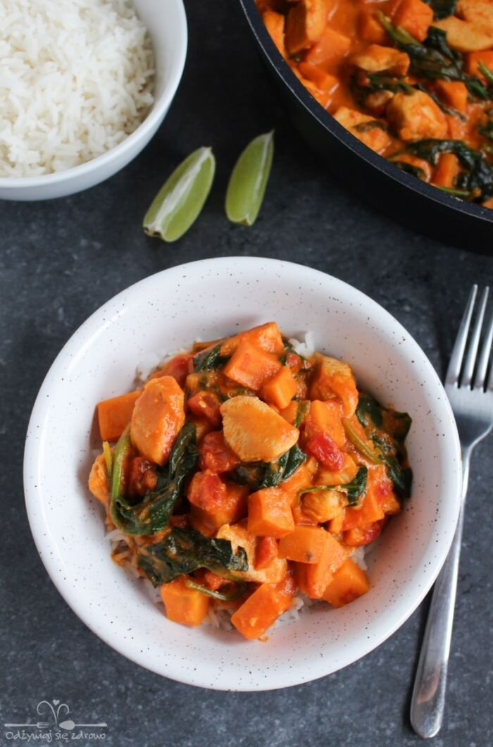 Curry z kurczakiem i batatem