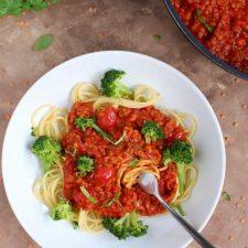 Sos pomidorowy z soczewicą
