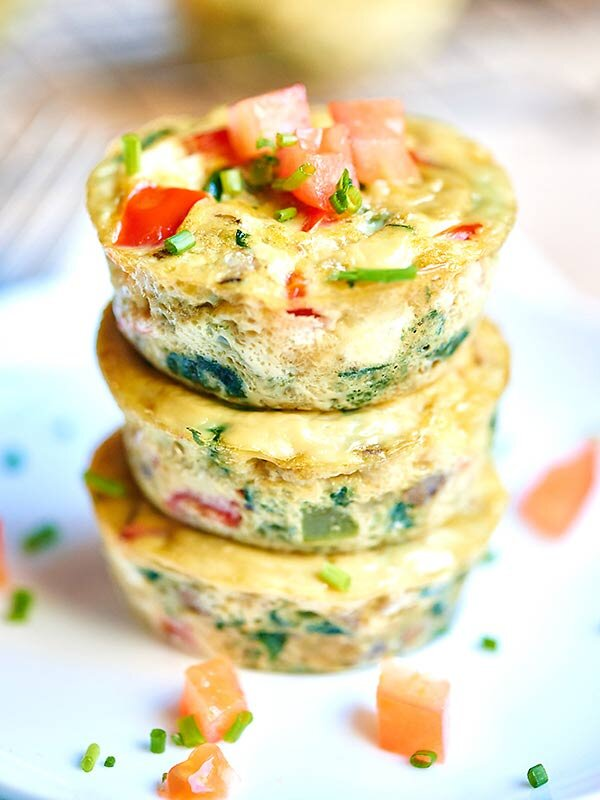 Muffiny jajeczne z warzywami - przykładowy jadłospis w niedoczynności tarczycy i Hashimoto