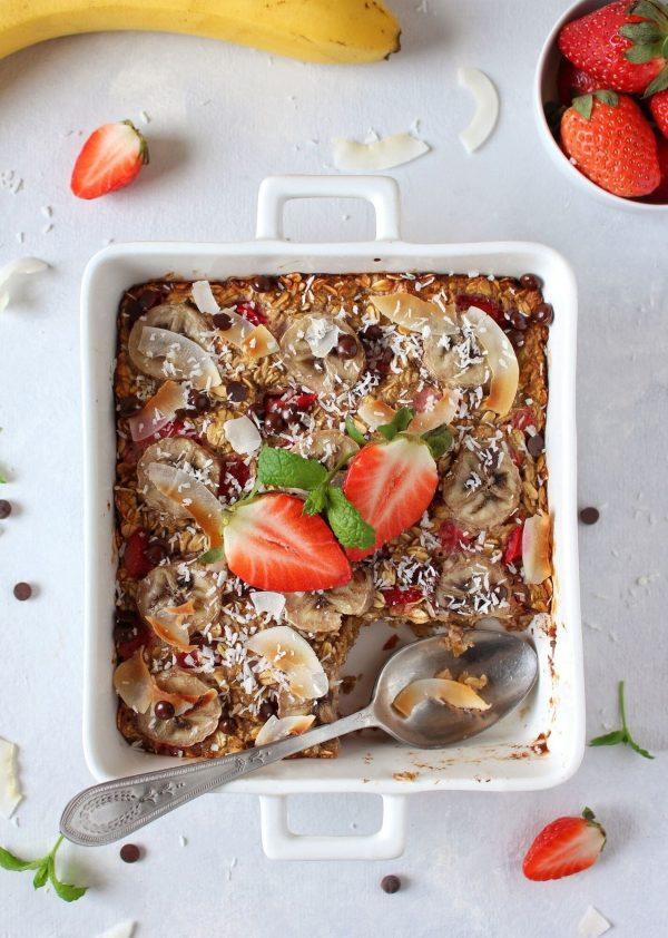 Pieczona owsianka z owocami