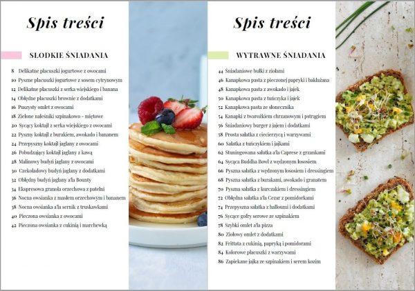 eBook - Zdrowe i pyszne śniadania - spis treści