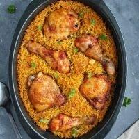 Kurczak pieczony na aromatycznym ryżu
