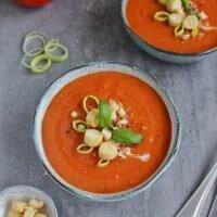 Zupa krem z pomidorów, pora i ziemniaków