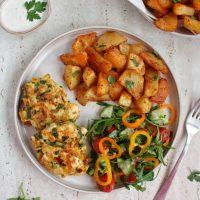 Siekane kotleciki z kurczakiem, szpinakiem i suszonymi pomidorami