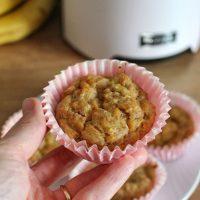 Muffinki z bananem i marchewką