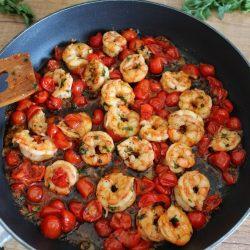 Pyszne krewetki w pomidorach