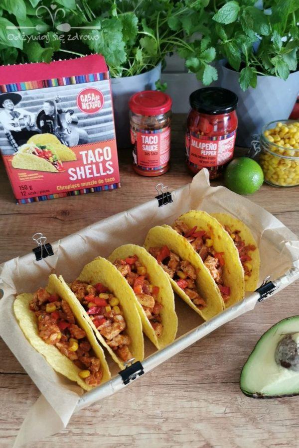 Faszerowanie Tacos z kurczakiem