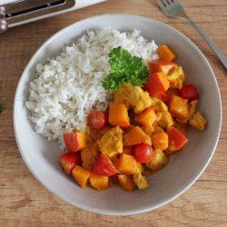 Curry z dynią, kurczakiem i pomidorami - miniatura